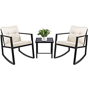 41qShpyzfNL._SS300_ 100+ Black Wicker Patio Furniture Sets For 2020