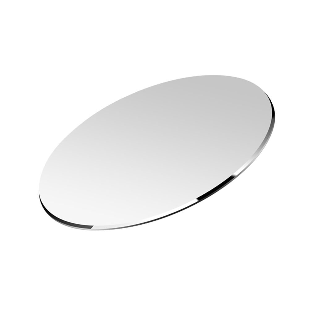 Round Hard Metal Aluminum Mouse Pad Circle Ultra Thin Double Side Design Waterproof Fast and Accurate Control for Gaming and Office(Round 8.66X8.66 inch)