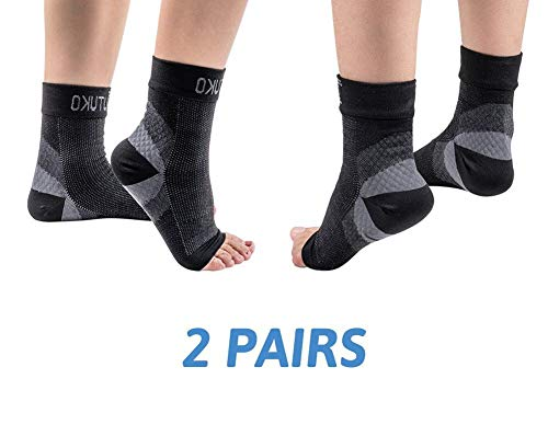 Tutuko Plantar Fasciitis Socks (2 Pairs), Compression Foot Sleeves with Heel Arch & Ankle Support, Foot Care Compression Sleeve for Men & Women, Fast Pain Relief, Ease Swelling, Heel Spurs – DiZiSports Store