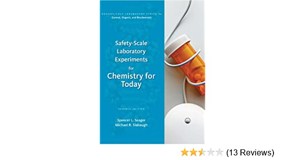 Safety scale laboratory experiments for chemistry for today brooks safety scale laboratory experiments for chemistry for today brooks cole laboratory series for general organic and biochemistry spencer l seager fandeluxe Image collections