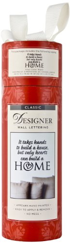 Die Cuts With A View Lettering It Takes Hands To Build A House, But Only Hearts, Large, Black
