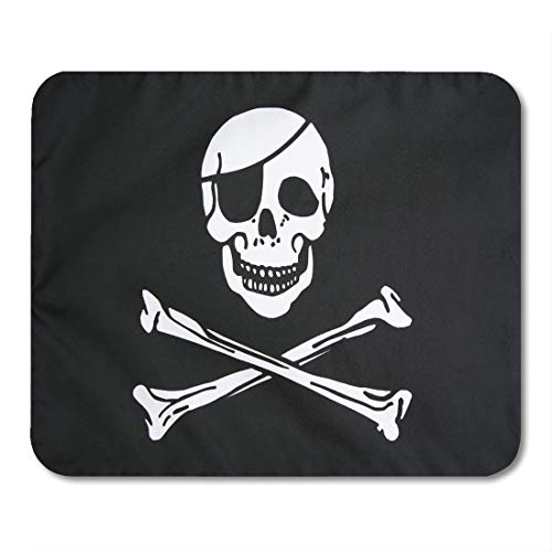 Emvency Mouse Pads Jolly Pirate Flag Closeup Roger Skull Patch Eye Infringement Mousepad 9.5