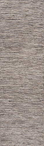 (Momeni Rugs MESA0MES-6NAT2380 Mesa Collection, 100% Wool Hand Woven Flatweave Transitional Area Rug, 2'3
