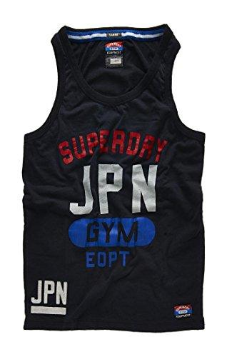 Superdry Men's Gym Equipment Pommel Vest Tank Top-Total - Top Pommel