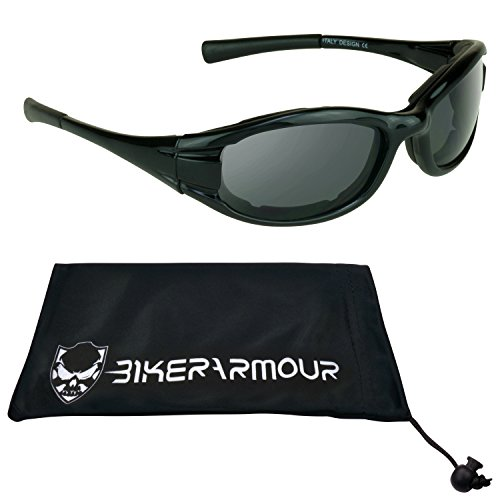 Small Motorcycle Sunglasses Foam Padded for Women, Girls and Boys. Free Microfiber Cleaning - Cayman Sunglasses