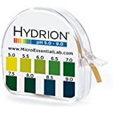 Micro Essential Lab 95 Hydrion Short Range pH Test Paper Dispenser, 5.0 - 9.0 pH, Single Roll