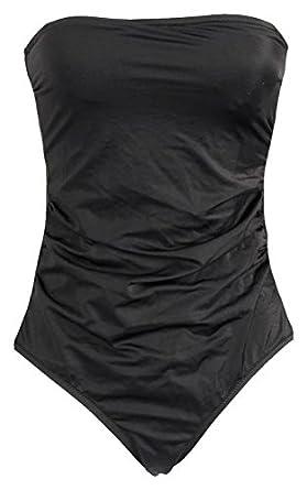 cbd40a8e17c J Crew Factory Strapless One-Piece Swimsuit Size Style  B9711 Black ...