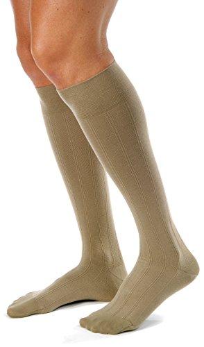 BSN Medical 113125 JOBST Men's Casual Socks with Closed Toe, Knee High, 20-30 mmHg, Medium, Khaki by BSN Medical/Jobst