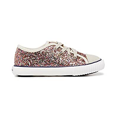 Clarks Girls Carly Fashion Shoes, Silver Glitter1 US