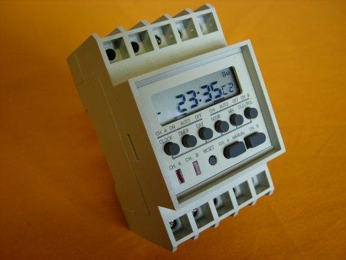 Twin Channel Output DIN Rail Programmable Timer Switch Coronado Controls Ltd TM-812