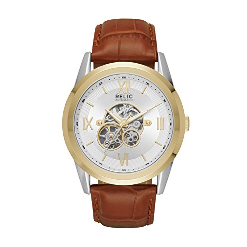 Relic by Fossil Men's Blaine Automatic Metal Skeleton Dial Watch
