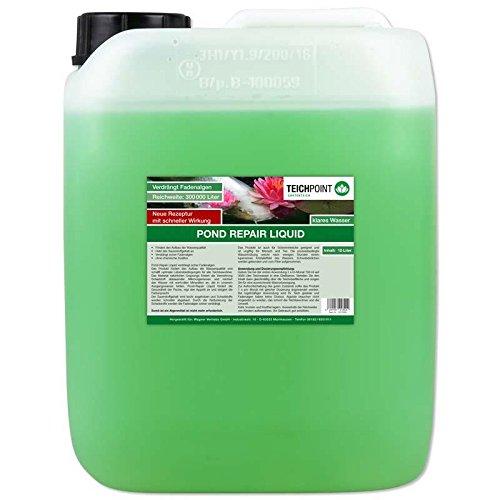 Teichpoint Pond Repair Liquid flüssig, verdrängt sicher Fadenalgen im Teich, Algen im Gartenteich (10 Liter)