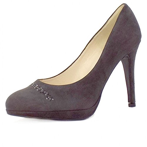 Peter Kaiser Nikola Damas Zapatos De Tacón Alto De Gamuza En Color Gris Carbón Gamuza De Carbono
