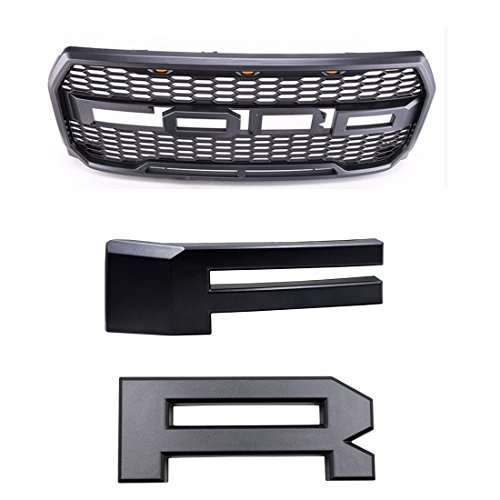 Ford F150 F-150 Raptor Style Paramount Grille Grill Letters F & R 2015 2016 2017
