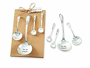 Mud Pie Ladle (Set of 4), Silver