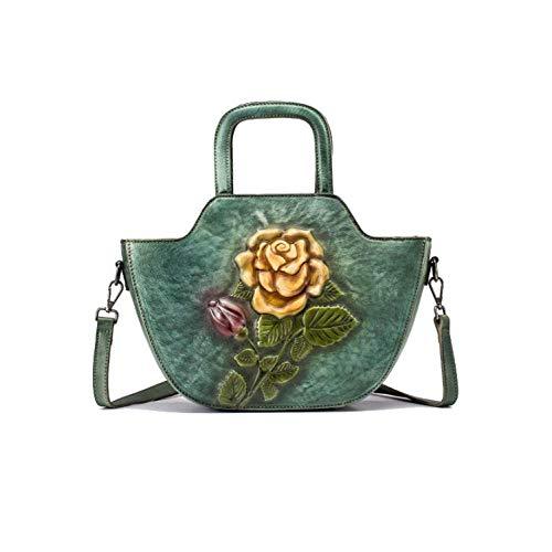 AJLBT à Chinois Style Main Style Sac La Fait Bandoulière à Simple Green Rétro De Sac Mode Dames fPqwxRrf0