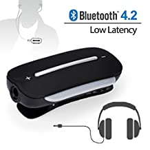 Avantree aptx LOW LATENCY Bluetooth Receiver for Headphones, 3.5mm Wireless Audio Adapter for Wired Earbuds, With Mic for Call and Music - Clipper Pro