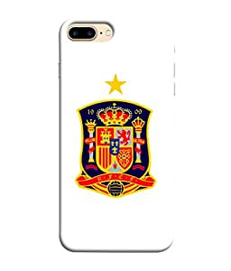 ColorKing Football Spain 09 White shell case cover for Apple iphone 8 Plus