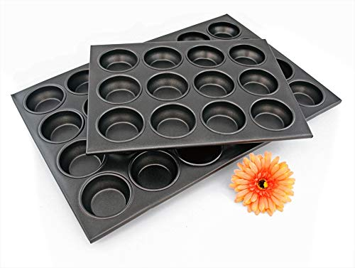 New Star Foodservice 37937 Commercial Grade Aluminum Non-Stick 24-Cup Muffin Pan by New Star Foodservice (Image #2)