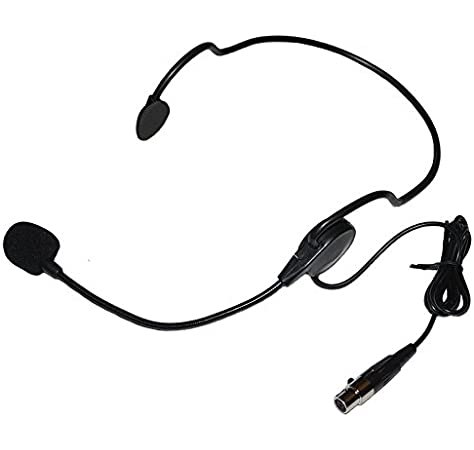 Amazon Com Cardioid Headset Microphone W Flexible Wired Boom For Shure Wireless Musical Instruments