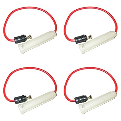 Pack of 4 Parts Master 81049 AGC or SFE Nylon In-Line Glass Fuse Holder 16AWG