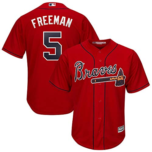Outerstuff Freddie Freeman Atlanta Braves MLB Majestic Infants Red Alternate Cool Base Player Jersey (Infants 12 Months)
