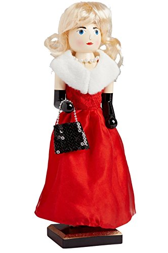 Blonde Red Gown Glamour Girl Large Unique Themed Decorati...