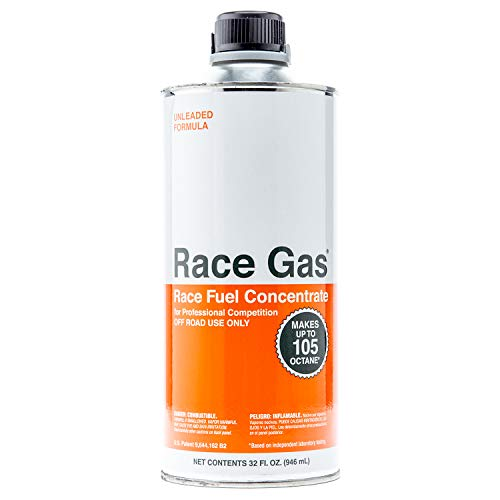 RaceGas 100032 Premium Race Fuel Concentrate Increases Gasoline Up to 105 Octan, 6 Pack ()