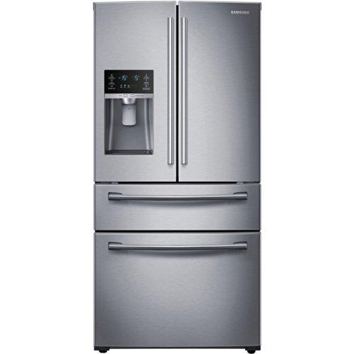 SAMSUNG RF25HMEDBSR French Door Refrigerator, 24.7 Cubic Fee