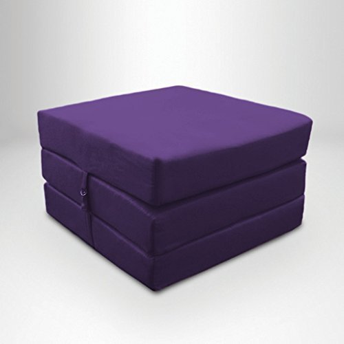 Purple Water Resistant Fold Out Z Bed Cube Mattress with Fastening Ready Steady Bed