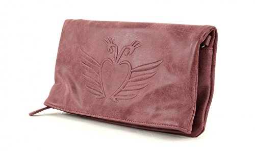 Fritzi aus Preußen Ronja BW Vintage Clutch Bolso bandolera 29 cm Amarena (Rojo)