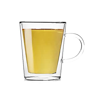 Teabox Lunar Glass Teacup (Doublewalled Borosilicate Glass, Insulated Tea Cup, 10 fl oz)