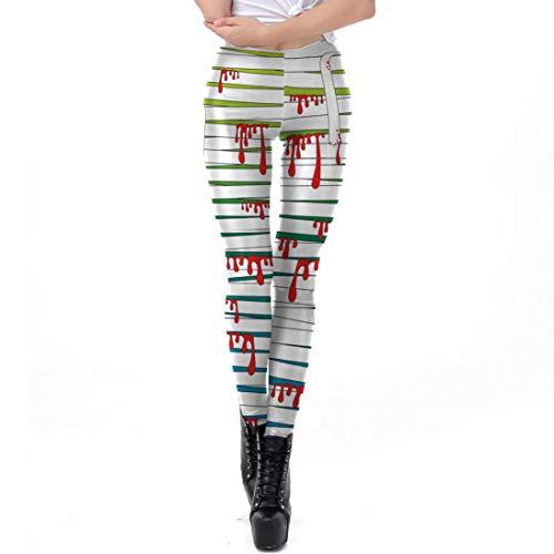 FANOUD Happy Halloween Casual Blood Bandage Women Leggings Skinny Stretchy Pencil Pants -