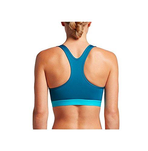 Nike New Pro Hypr Clsc Pad - Sujetador deportivo para mujer Industrial Blue/Chlorine Blue