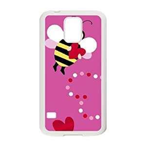 Samsung Galaxy S5 Phone Case White Honeybee LT8R4PKU Cellphone Cover