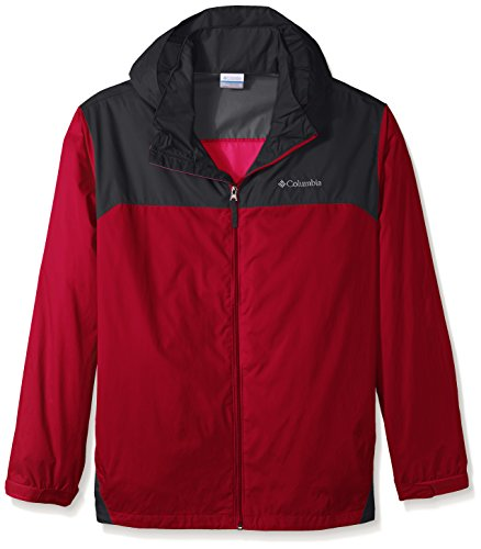 Tall Rain Gear - Columbia Men's Big & Tall Glennaker Lake Packable Rain Jacket,Mountain Red/Graphite,6X