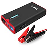 GOOLOO 1200A Peak SuperSafe Car Jump Starter with USB Quick Charge 3.0 (Up to 8.0L Gas or 6.0L Diesel Engine), 12V Portable Power Pack Auto Battery Booster Phone Charger Built-in LED Light, Black