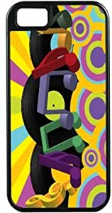 Rikki KnightTM Retro 60's Vinyl Records Pastel Music Notes Black Tough-It Case Cover for iPhone 4 & 4s (Double Layer case with Silicone Protection)