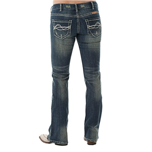 Cowgirl Tuff Women's Don't Fence Me in Jeans Blue 30W x 35L ()
