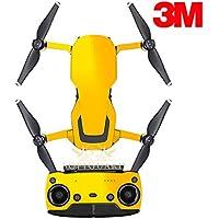 SopiGuard 3M Gloss Yellow Precision Edge-to-Edge Coverage Vinyl Sticker Skin Controller 3 x Battery Wraps for DJI Mavic Air