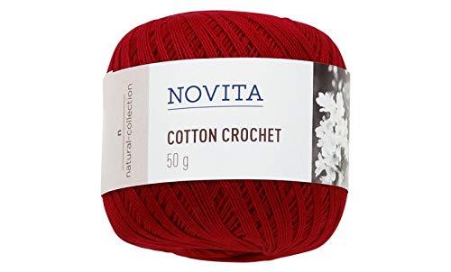 Novita Cotton Crochet knitting thread 50g Red (2 pieces)