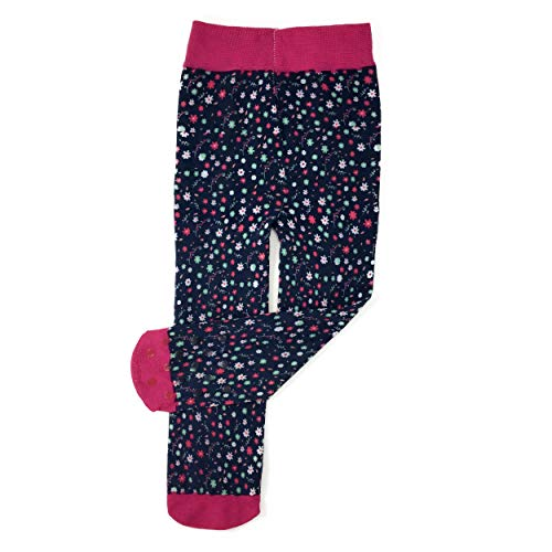 Baby Bling Floral Printed Tights for Baby Girls Leggings - Blue Ditsy Floral ()