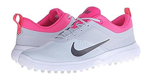 Nike Women's Akamai Spikeless Golf Shoes Grey Pink Multi (7.0M)
