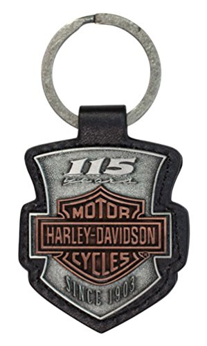 - Harley-Davidson 115th Anniversary 2D Die Struck Keychain, Antique Finish KY26023