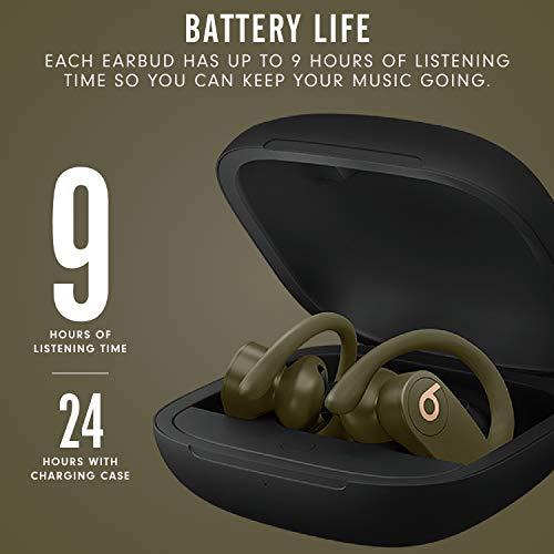 Powerbeats Pro Wireless Earphones - Apple H1 Headphone Chip, Class 1 Bluetooth, 9 Hours Of Listening Time, Sweat Resistant Earbuds - Moss