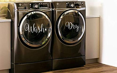 CELYCASY Wash & Dry Decals for Washers and Dryers, Laundry Room Decor, Washer and Dryer Decals, Washer Dryer Decal, Washer Decals, Dryer Decal, Vinyl