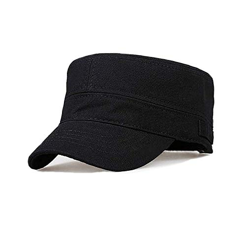 Fasbys Cotton Flat Top Peaked Baseball Twill Army Millitary Corps Hat Cap Visor (Navy)
