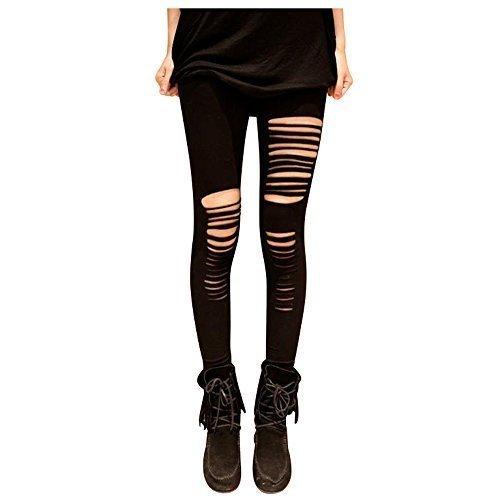 PunkJewelry Fashion Leggings Ripped Zerrissen Look Einheitsgrösse