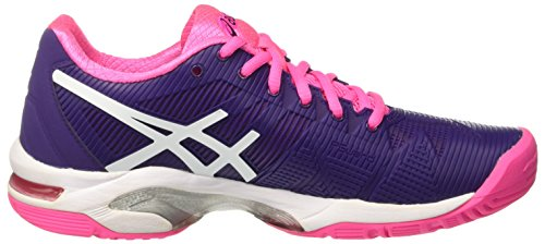 parachute De Violet 3 Speed Asics solution Gymnastique Gel Femme white Chaussures hot Pink Purple wqwzR4x