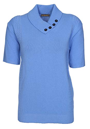 Shop Clear Lets Mid Buttons Femme 44 Bleu Blue 46 Mid Pull Blue Shop dBwqwAX